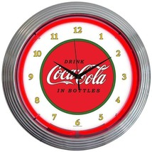 New 1910 old style Drink Coca Cola In Bottles neon clock  More Coke & so... - $79.95