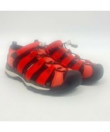 KEEN Boys River Hiking Shoes Red Closed Toe Sandals Elastic Youth 4 - $15.44