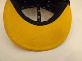 NY Yankees 59Fifty New Era Fitted Cap Hat Size 7 1/4 7.25 Black Gold Yellow image 4
