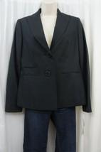 Evan Picone Suit Jacket Sz 6 Black Blue Park Avenue Striped 2 Button Bla... - $39.53