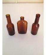 Glass Brown Bottles Medicine Liquor 1/10 Pint USA Canada - $27.00