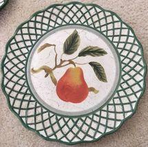 3 Raymond Waites Cornucopia Certified Intl Green Rim Fruit Dinner Dish Plates image 3