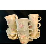 Pfaltzgraff  Tea Rose Design 8 Coffee Cups and 8 Saucers - $43.76