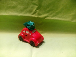 DEPARTMENT 56 RED CAR WITH CHRISTMAS TREE ON TOP - $11.00