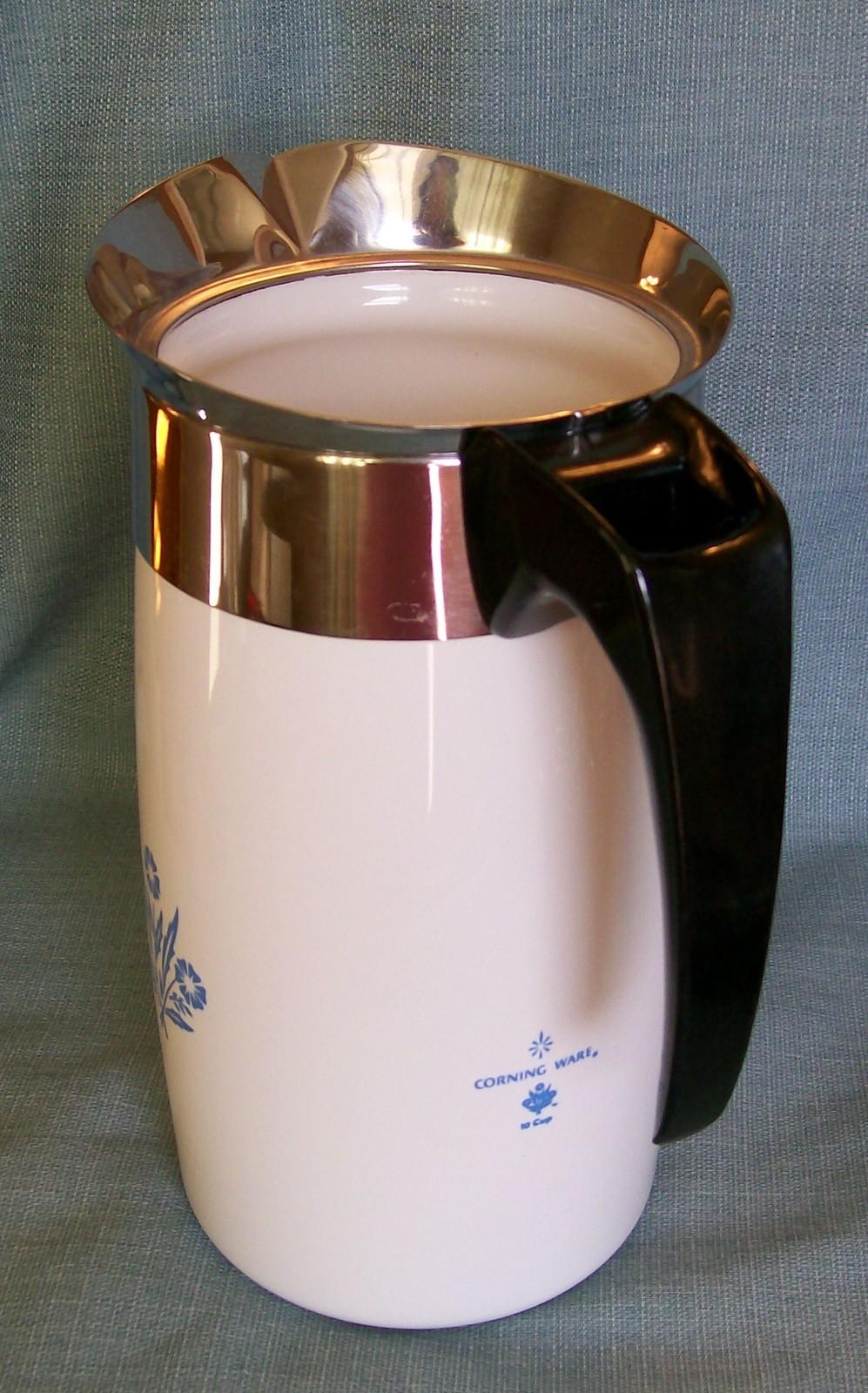 Corning Ware BLUE CORNFLOWER Electric Coffee Pot/Percolator 10 cup P-80-EP EUVC image 4