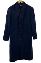 Stafford Mens Overcoat Size 42 Black Wool Blend Dress Coat Button Up - $59.40