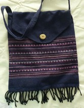 Purse  Fabric Messenger Style Hippie Boho Ethnic Indian Look Bag - $12.62