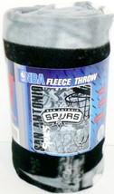 "San Antonio Spurs Fleece Blanket Throw Hard Knocks 60"" By 50"" Nba Licensed - $18.65"