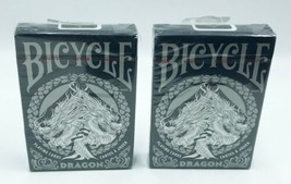 Lot of 2x Bicycle Playing Cards- Dragon Themed - $12.99