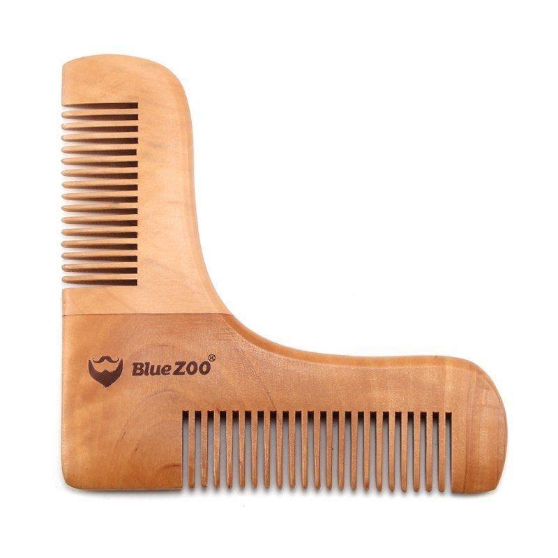 Peine para barba hecho de arbol de pera,Comb For men shaving beard trimming pat