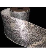 """10 Yards Metallic Silver Speckled Christmas Wired Ribbon 4""""W Florist, Fl... - $44.70"""