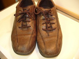 Rockport Mens Brown Leather Oxford Shoes Size 13 D Lace Up Walking Shoe Casual   - $22.65