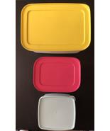 Three Tupperware Freeze It Plus Freezer Containers #5549, 7871 & 8314 - $19.79