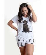 Dog Chocolate Labrador pajama set with shorts for women - $30.00