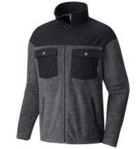 Columbia Mens S XXL Steens Mountain Novelty Fleece Jacket Charcoal Heath... - $47.37