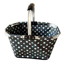 Black Temptation [Polka Dot] Collapsible Picnic Basket Foldable Shopping... - $31.79