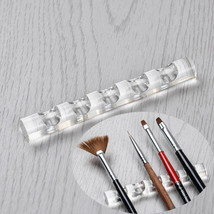 Acrylic Nail Brush Stand Clear Holder Display Stand for 5 Nail Art Pens Brushes - $2.22