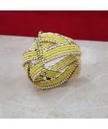 Beautiful Yellow Wrap Bracelet - $7.99