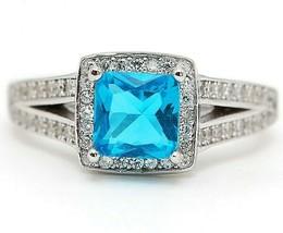 Buy Now 3CT Blue Topaz & Topaz 925 Sterling Silver Ring Jewelry Sz 7, SC19 - $30.68