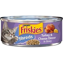 Purina Friskies Shreds Turkey & Cheese Dinner in Gravy Adult Wet Cat Foo... - $23.95