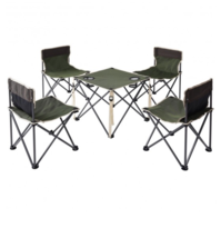 Portable  folding Table Chairs Set outdoor Camping beach picnic barbecue... - $48.19