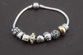 Pandora Charm Bracelet Sterling Silver Love Hearts Cupcake 45.4g - $98.01