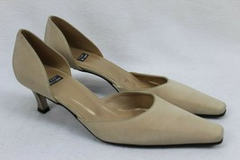 Stuart Weitzman Dorsay Women's Tan Leather Pumps Size 7 AA - $45.49