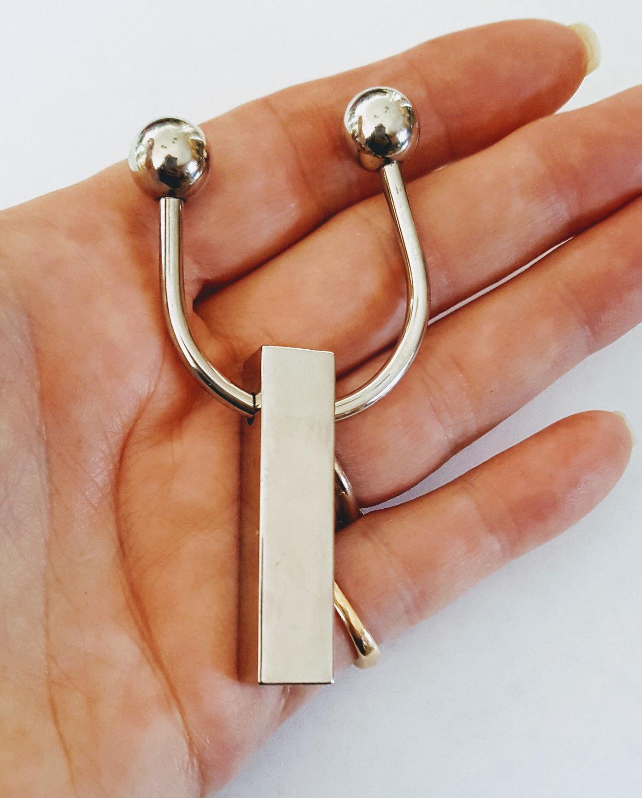 Anne Klein Silver Bar Keychain