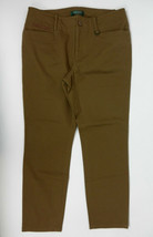 Ralph Lauren Petite 8P Pants Brown Straight Leg Brass Horseshoe Accent  - $49.49