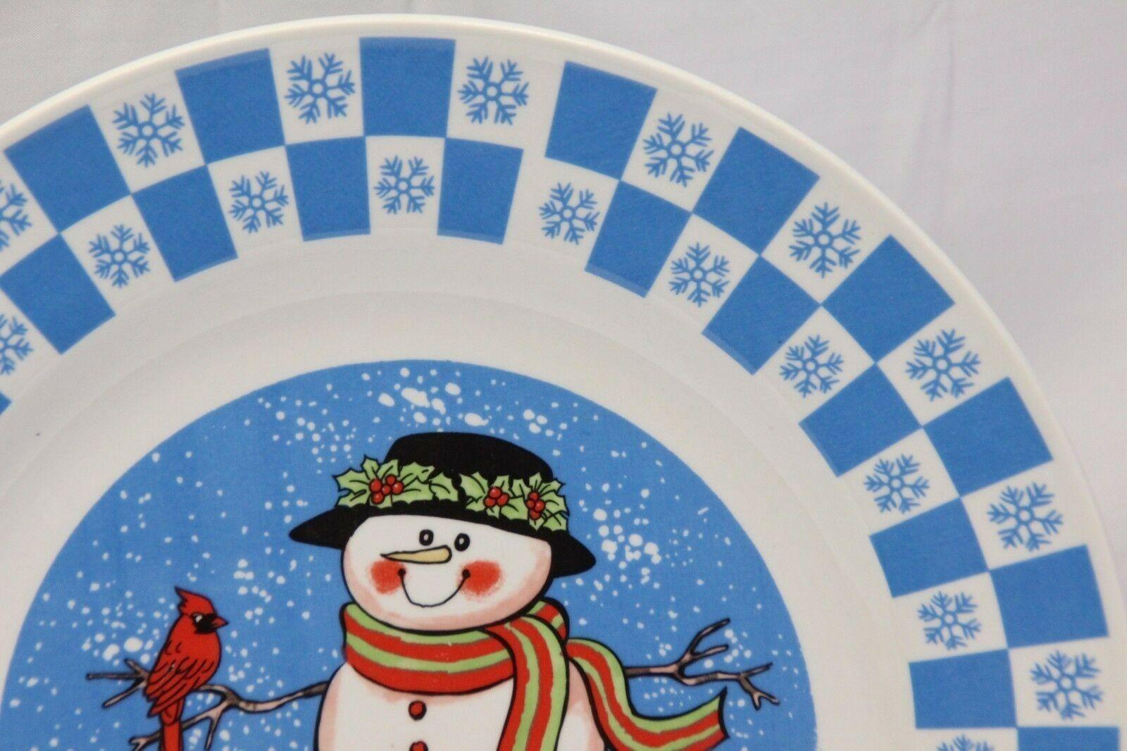 """GEI Snowman Xmas Dinner Plates 10.5"""" Set of 4 image 4"""