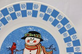 "GEI Snowman Xmas Dinner Plates 10.5"" Set of 4 image 4"