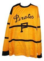 Custom Name # Pittsburgh Pirates Retro Hockey Jersey New Yellow Any Size image 3