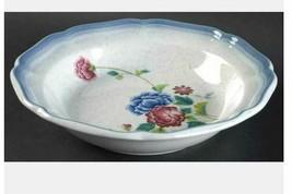 Rim Soup/Cereal Bowl Debonair by MIKASA Width: 8 1/2  in Pink Blue Floral - $11.87