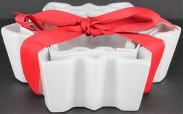 Crate&Barrel Snowflakes Ramekins Set of 2 White Bowl - $19.80