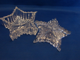 "Katharinen Hutte (Germany) Crystal Star Shaped 4 3/8 "" Lidded Trinket Box - $23.99"