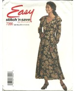 McCall's Sewing Pattern 7390 Stitch 'N Save Misses Womens Dress 16 18 20... - $9.99