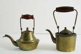 Miniature Brass Teapot Kettles Vintage India One Ounce Set of 2 - $49.50