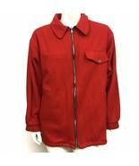 Marlboro Unlimited Gear Jacket Reversible Mens Large Red Black Wool Blend - $49.88