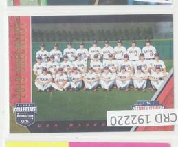 2019 USA Baseball Stars and Stripes Baseball Card Pick 192220 - $1.86