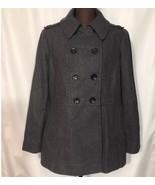 MICHAEL MICHAEL KORS Womens Pea Coat Wool Blend Double Breasted Gray Sz ... - $125.77