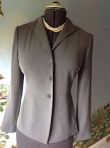 Ann Taylor Loft Long Sleeve Button Front Gray Suit Jacket Blazer SZ 4 - $32.17