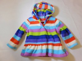 The Children's Place Girl's Long Sleeve Fleece Hoodie Striped Size Variations - $13.49