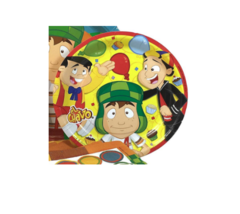 """El Chavo and Friends 7.25"""" Multicolored Round Party Plates - Set of 6 - $10.18 CAD"""