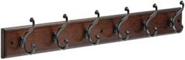 Coat Rack Wall Mounted Coat Rack With 6 Decorative Hooks Soft Iron And C... - $29.21