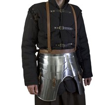 Imperial Faulds and Tassets - LARP Medieval Leg Armor Metallic One Size - $298.80