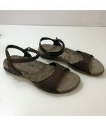MERRELL Salerno Brown Leather Sandals J36358 Womens US Size 8 UK 6 EUR 38 - $41.53