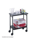 NEW Safco 8965BL Folding Rolling Beverage Cart Black - $123.40