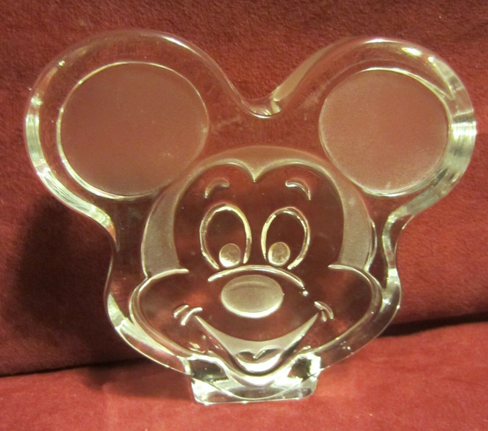 Primary image for Mickey Mouse Head Glass paper weight