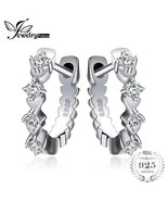 Jewelrypalace Shining Hoop Earrings Sterling Silver Wedding Engagement G... - $30.12