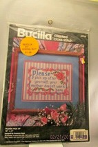 """Bucilla Counted Cross Stitch Kit """"""""Please Pick Up"""" 10"""" X 8"""" Dated 1993 - $11.29"""